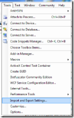 Visual Studio Settings